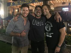 "Jeffrey Dean Morgan on Twitter: ""First twit. My boys!! @JensenAckles @jarpad #minncon #spnfamily #bocce"