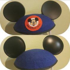 Disney mickey ears hat classic blue youth size
