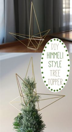 Go for a modern tree topper this year. Better yet, have it be something you made yourself! This DIY himmeli-style start tree topper is easy to construct with these instructions: http://www.ehow.com/ehow-home/blog/diy-himmeli-style-christmas-star-tree-topper/?utm_source=pinterest&utm_medium=fanpage&utm_content=blog
