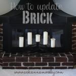 How to Stain Brick (Updating a Brick Fireplace)