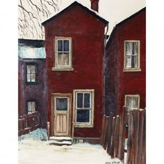 John Kasyn, Ontario Canada:  END OF BRIGHT ALLEY, TORONTO   oil on board