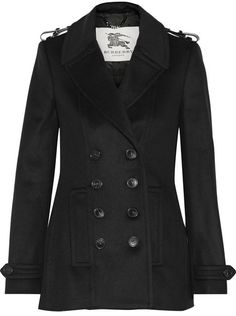 Burberry Leather-trimmed wool and cashmere-blend coat on shopstyle.com