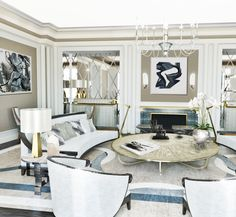subtle colors; exquisite furnishings