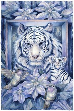 Bergsma Gallery Press::Paintings::Nature::Multiple Animal Types::At Home In The Garden - Prints