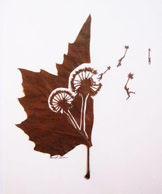 Beautifully Intricate Cut Leaf Art by Omid Asadi, art, sculpture, leaves, leaf art