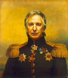 Alan Rickman | These Portraits Of Celebrities As Army Generals Are Amazing