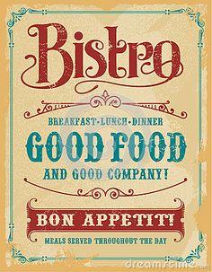 bistro poster - Pesquisa Google