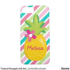 Tropical Pineapple with Stripes Casemate Case  #ad #Zazzle
