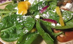 Spinach Salad with Goat or Feta Cheese for 2 Weight Watchers points