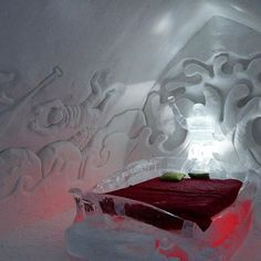 Love the themed suites of The #icehotel! @hoteldeglace #DreamQc #moncarnaval