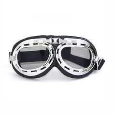 48f73f3d883 Vintage Outdoor Motorbike Cruiser Scooter Padded Goggles Gray Atv Riding