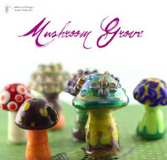 Mushroom Grove Lampwork Bead Set. Starting at $25 on Tophatter.com!