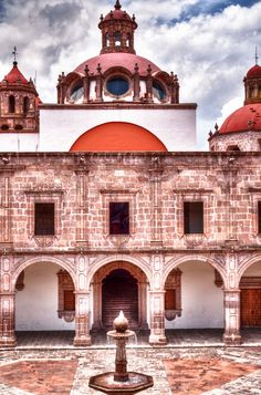 Palacio Clavijero, a historic Jesuitic college and now a museum at Morelia, Michocan, Mexico