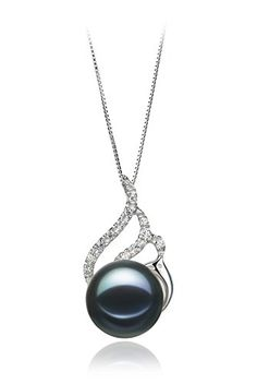 Tracy Black 1213mm AA Quality Freshwater 925 Sterling Silver Pearl Pendant ** Read more  at the image link.