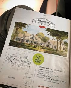 "Sitting at the Atlanta airport, just got my first look at our ""Cedar River Farmhouse"" featured in @southernlivingmag this month.  A house I think will resonate with a lot of southern home lovers!  For someone who literally grew up on Southern Living house plans (like most all of us!), it's fun to finally have one of my own!  #moretocome #cedarriverfarmhouse #design #southern"