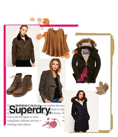 """The Cover Up – Jackets by Superdry: Contest Entry"" by marianti on Polyvore featuring Superdry, WithChic and Bliss Studio"