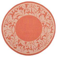 "Ashford Rectangle 5'3""X7'7"" Patio Rug - Terracotta/Natural - Safavieh"
