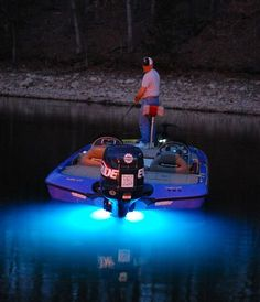 The crew over at Quickbaits fishing with a LIFEFORM 9 blue on the Lake O' the Grand Cherokees.