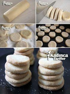- Kadınca Tarifler - galletas - Las recetas más prácticas y fáciles Candy Cookies, Sweet Cookies, Sweet Treats, Armenian Recipes, Turkish Recipes, Kitchen Recipes, Cooking Recipes, Pasta Cake, Biscuits