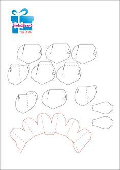 Rose kirigami pattern 1