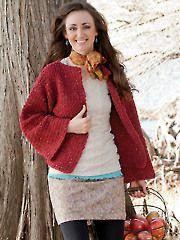 Fay Crochet Sweater pattern download from Annie's Craft Store. Order here: https://www.anniescatalog.com/detail.html?prod_id=127562&cat_id=24
