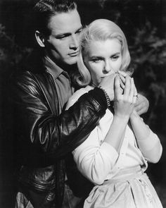 "Paul Newman et Joanne Woodward sur le tournage du film ""From the Terrace""."