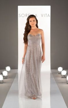 8684 Sequin Bridesmaid Dress by Sorella Vita. Mary Me Bridal.