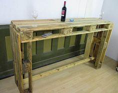 Weiteres - Palettenmöbel - Stehtisch - Theke - Tisch - ein Designerstück von Woodupcycling bei DaWanda