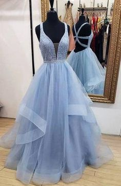 03e276872bae Sexy Long Prom Dresses With Beading Custom-made School Dance Dress Fashion  Graduation Party Dress YDP0540
