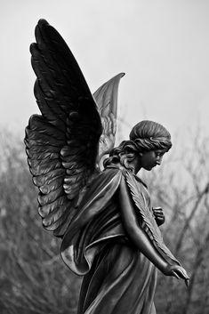 Angel Aesthetic, Aesthetic Art, Statue Ange, Heaven Tattoos, Angel Artwork, Statue Tattoo, Religious Tattoos, Greek Gods And Goddesses, Graphic Wallpaper