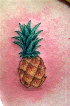 I wanted a pineapple tattoo on my ankle right up until I saw this red skin!