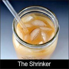The Shrinker .... Where have you been all of my life!!!!! SOOOOO GOOD! Oolong tea, almond milk, cinnamon, cayenne, and vanilla.