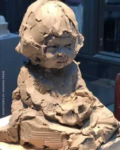 Japanese girl by Mooniq Priem DDW 2018 - Ceramic sculptures - Sculpture Head, Ceramic Sculptures, Terracota, Ceramic Figures, 3d Drawings, Beautiful Artwork, Clay Art, Landscape Art, Sculpting