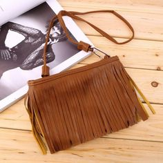 Ladies Mini Small Casual PU Leather bags Women's Punk Satchel Tassel Suede Fringe Shoulder Messenger Cross Body Bag 2016 Hot