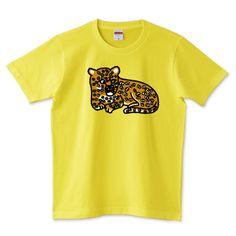 そこには何かいるモン!? in ヒョウ Illustrated by ショウタロー #Tシャツ #tshirts #イラスト #デザイン #ヒョウ #leopard