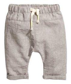 Pull-on Linen-blend Pants
