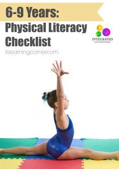 Physical literacy checklist: 6-9 years   ilslearningcorner.com