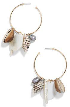 Baublebar Sardinia Hoop Earrings In Gold Cluster Earrings, Rose Gold Earrings, Feather Earrings, Diamond Earrings, Hoop Earrings, Keshi Pearls, Cultured Pearls, Sardinia, Fine Jewelry