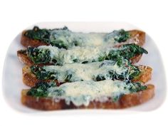Food Network invites you to try this Bruschetta with Fontina and Greens recipe from Giada De Laurentiis.