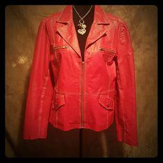 GENUINE LEATHER JACKET GENUINE LEATHER JACKET (Worn once) Runs small Jackets & Coats