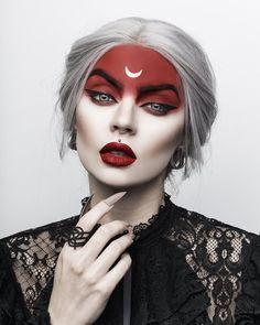 Demon Makeup, Witch Makeup, Halloween Eye Makeup, Halloween Looks, Sfx Makeup, Costume Makeup, Makeup Art, Beauty Makeup, Wolf Makeup