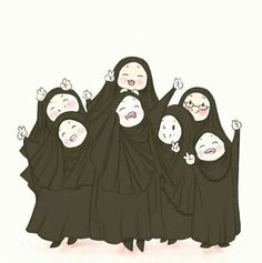 Kendinize Allah yolunda dostlar edinin♡ - Best of Wallpapers for Andriod and ios Girl Cartoon, Cartoon Art, Hijab Drawing, Islamic Cartoon, Anime Muslim, Hijab Cartoon, Islamic Girl, Islamic Wallpaper, Muslim Girls