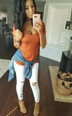 Best Casual Fall Outfits Part 13 Looks Chic, Looks Style, My Style, Mode Outfits, Fashion Outfits, Womens Fashion, Short Outfits, Cute Jean Outfits, Dressy Casual Outfits