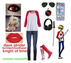 """Dave Strider- Homestuck"" by ajlutz04 ❤ liked on Polyvore featuring Zero Gravity, DL1961 Premium Denim, Ray-Ban, Converse, Watson's, Smashbox and Beats by Dr. Dre"