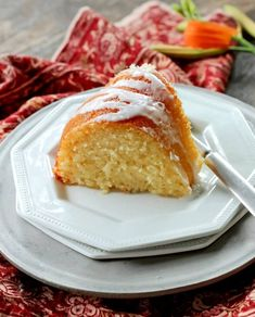 Glazed Lemon Ricotta Cake - Bunny's Warm Oven