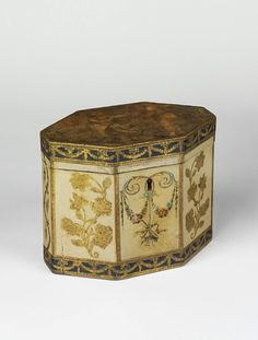 Tea caddy 1780-1800 (made)| V Search the Collections...  From...  http://collections.vam.ac.uk/item/O133804/tea-caddy-unknown/#