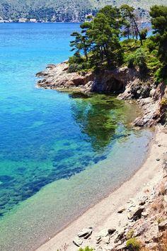 Little beach in Leros , Greece