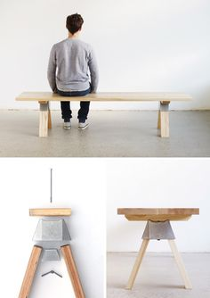 Henry-bench - Henry Wilson's Ash bench seat with the A-joint system.  Very clever.