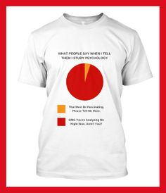 Awesome Limited-edition T-Shirt designs for psychology fans. Click on image or see following link for details. http://www.all-about-psychology.com/psychology-t-shirts.html   #psychology #PsychologyTee