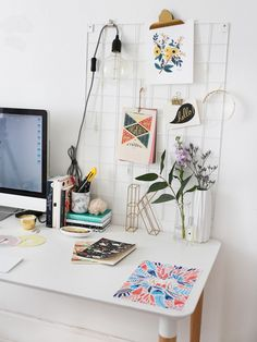 the perfect home office decor. home office decor. how to decorate your home office. Home Office Space, Home Office Decor, Office Desk, Desk Space, Uni Desk, Work Desk Decor, Study Space, Workspace Inspiration, Room Inspiration